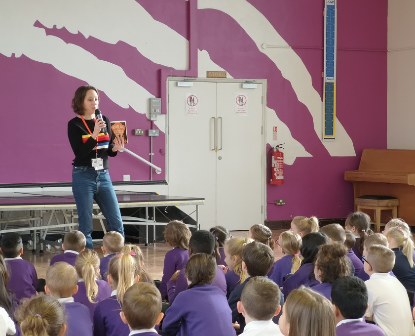 Best-selling children's author visit Oasis Academy New Oak